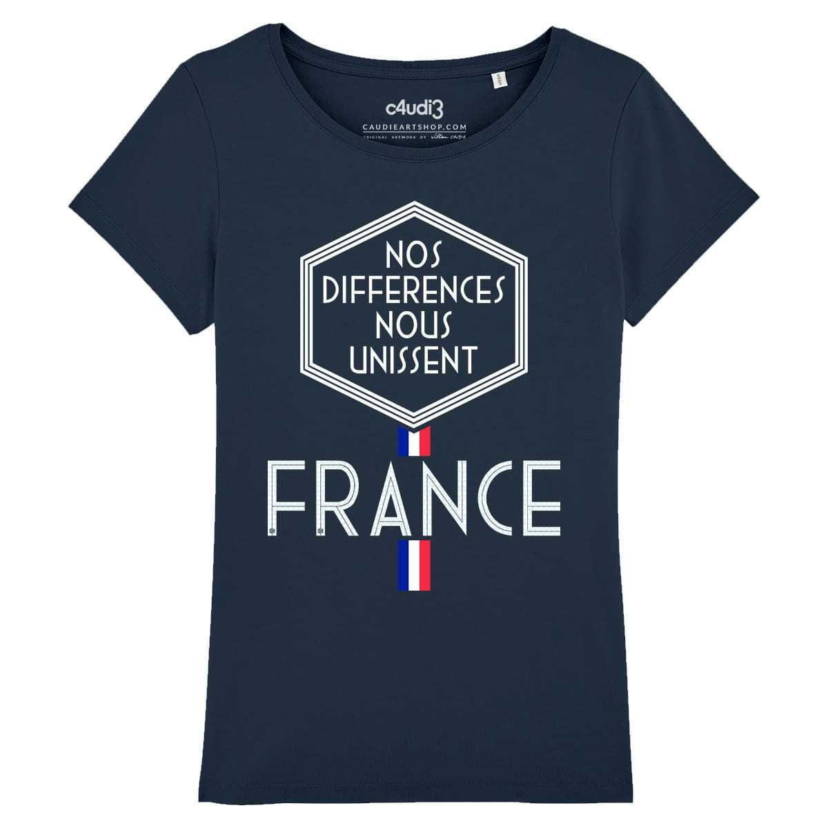 NOS DIFFERENCES NOUS UNISSENT - Women's tee-shirt - Caudie