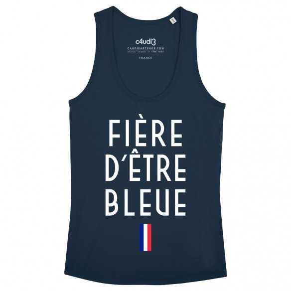 FIÈRE D'ÊTRE BLEUE - Women's tank top - Caudie