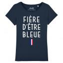 FIÈRE D'ÊTRE BLEUE - Women's tee-shirt - Caudie