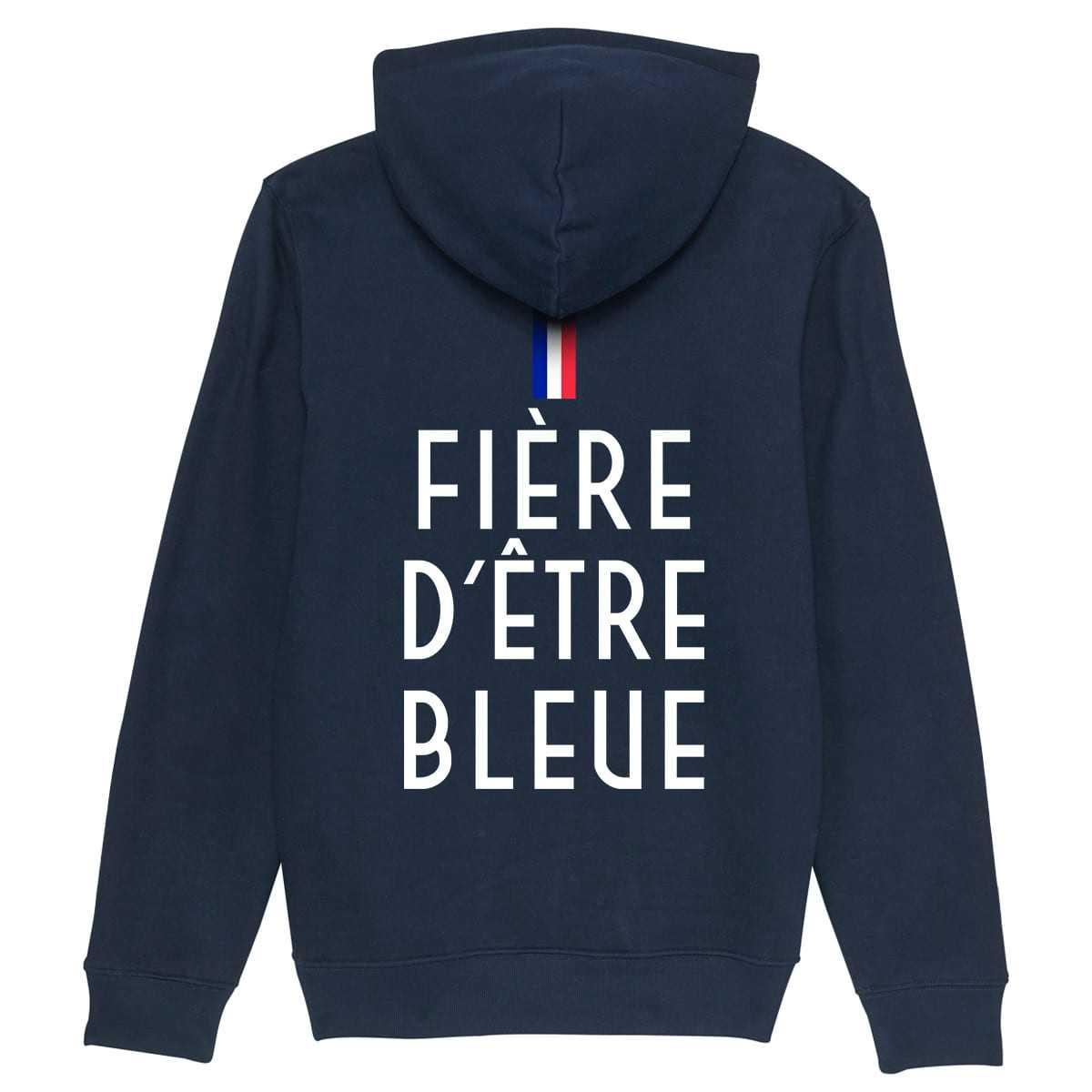 FIÈRE D'ÊTRE BLEUE - Hoodie - Caudie